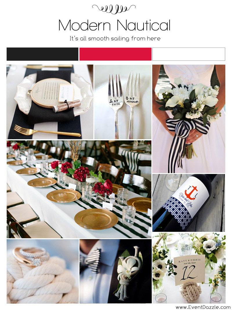 Modern nautical wedding ideas dream weddings start here black nautical wedding junglespirit Gallery