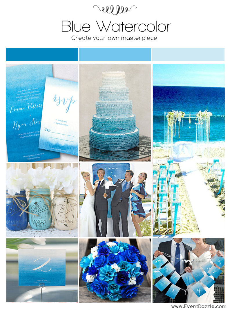 Blue Watercolor Wedding Ideas Dream Weddings Start Here