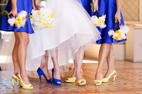 Blue wedding color combination ideas dream weddings start here blue and yellow wedding ideas junglespirit Images