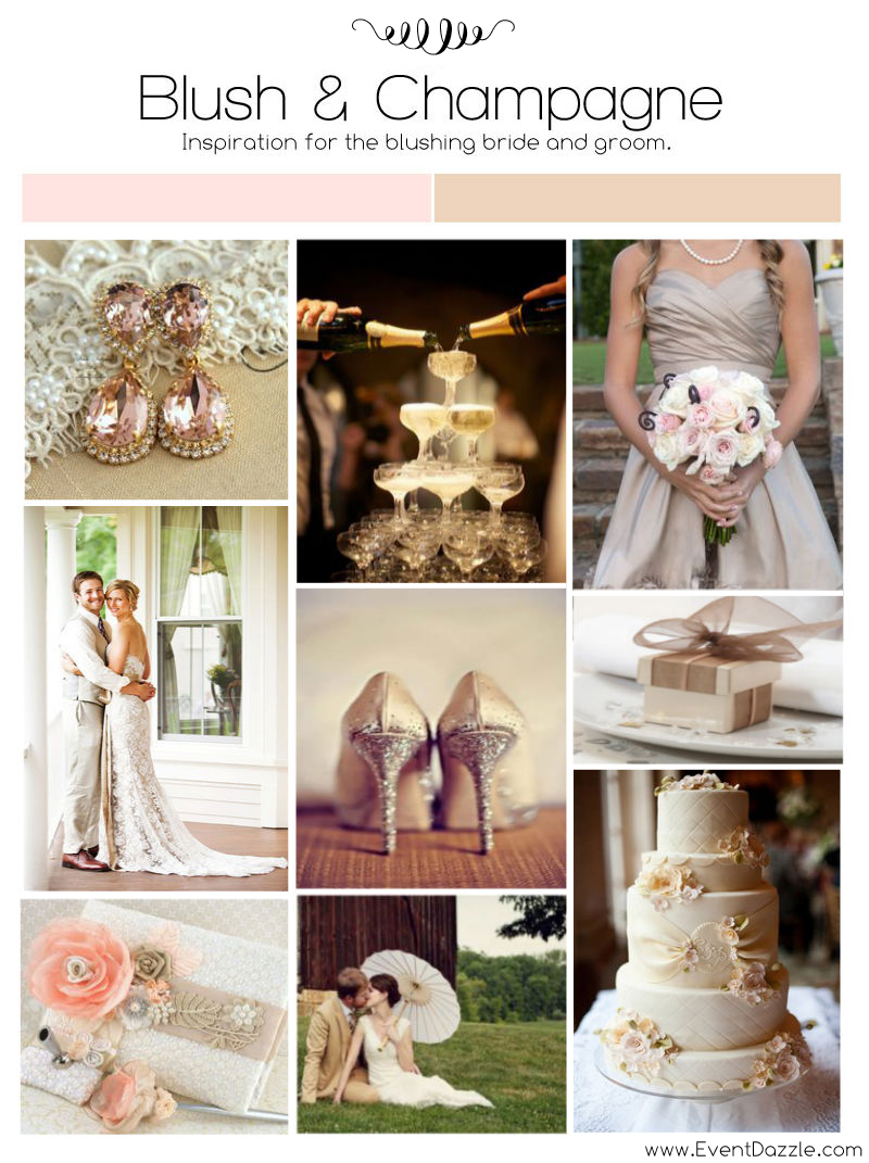 Blush and Champagne Wedding Inspiration | Dream Weddings Start Here