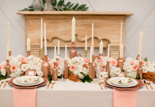 Blush Pink Wedding Color Combination Ideas Dream Weddings Start Here