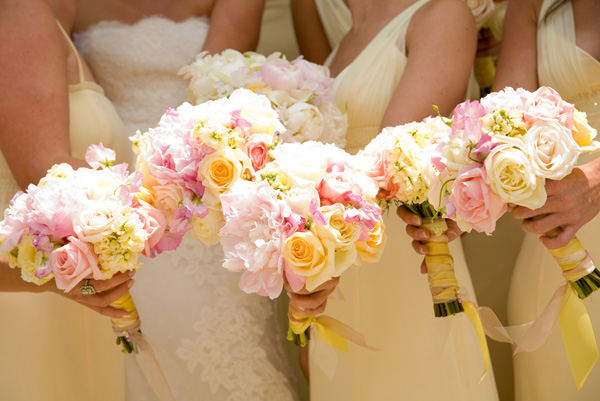 Blush pink wedding color combination ideas dream for Pink and yellow wedding theme ideas