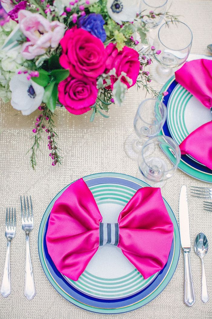 fuchsia and hot pink wedding color combination ideas