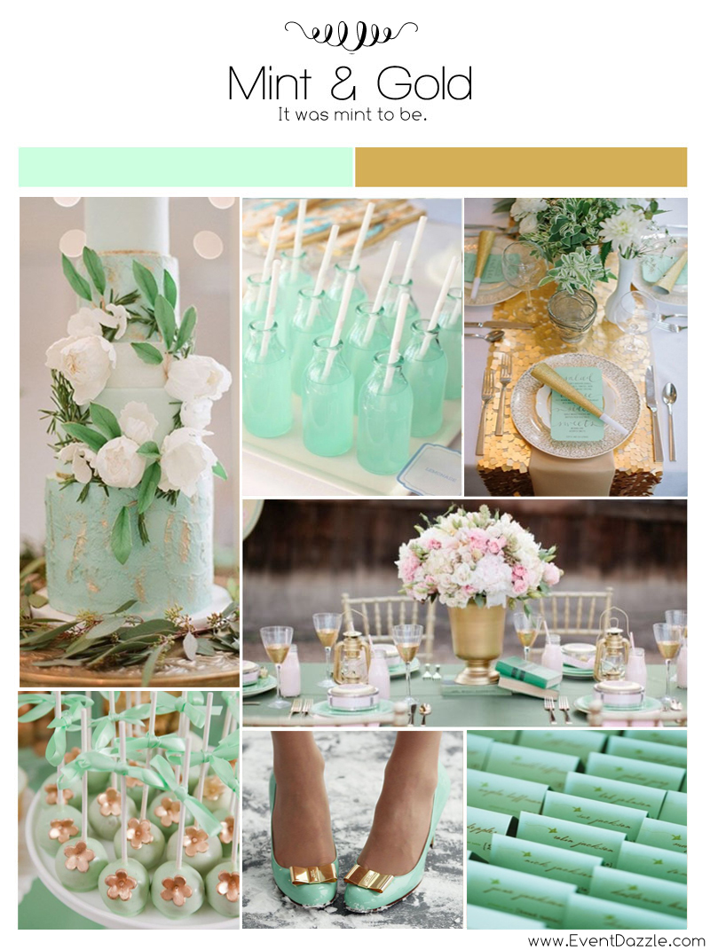 Mint Green And Gold Wedding Theme Dream Weddings Start Here