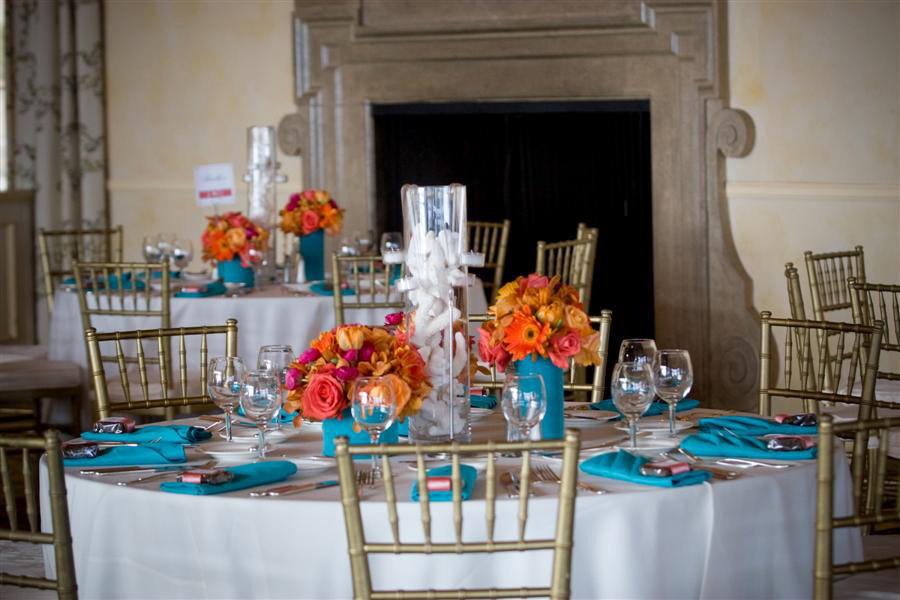 OrangeTurquoise And Silver Wedding Ideas