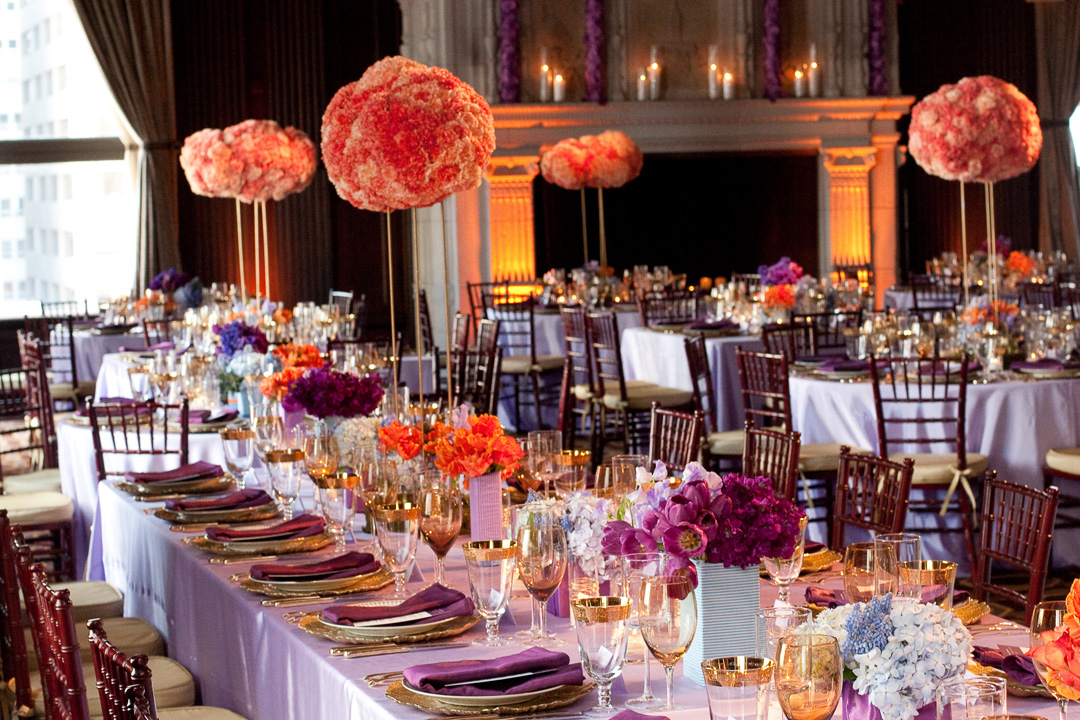 Purple Ideas For Weddings: Plum Purple Wedding Color Combination Ideas