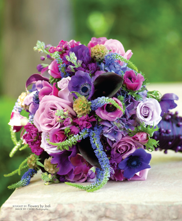 Purple And Pink Wedding Flowers: Plum Purple Wedding Color Combination Ideas