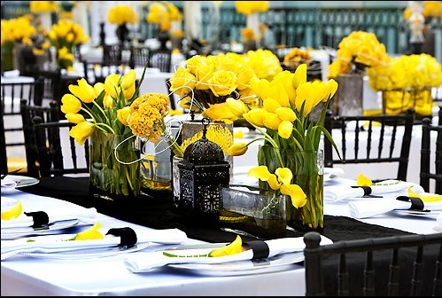 Yellow Black And Green Wedding Ideas