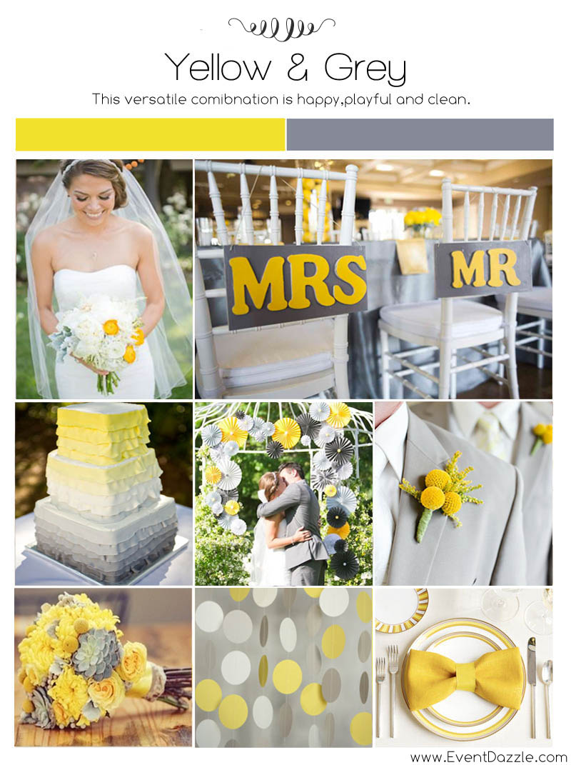Yellow and Grey Wedding Ideas | Dream Weddings Start Here
