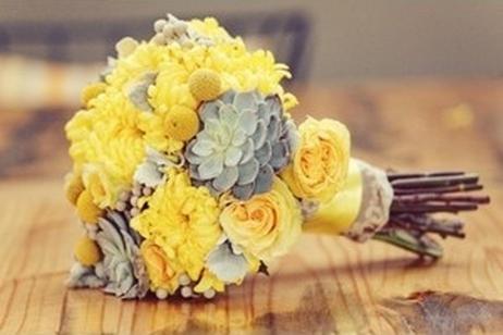 Yellow and grey wedding idea lookbook dream weddings start here yellow and grey wedding junglespirit Images